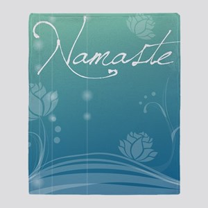 Namaste iPad Case Throw Blanket