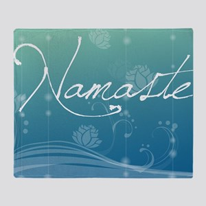 Namaste Glass Cutting Board Large Throw Blanket