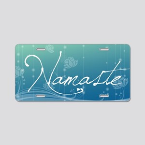 Namaste Clutch Bag Aluminum License Plate
