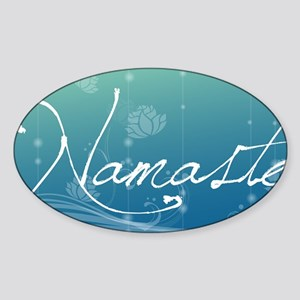 Namaste Clutch Bag Sticker (Oval)