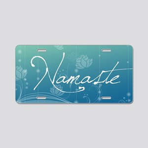 Namaste 20x12 Oval Wall Dec Aluminum License Plate