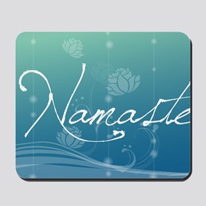 Namaste 20x12 Oval Wall Decal Mousepad