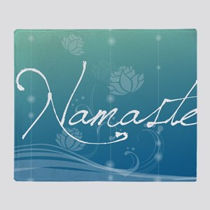 Namaste 20x12 Oval Wall Decal Throw Blanket