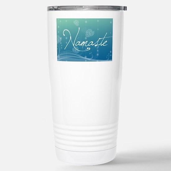 Namaste 20x12 Oval Wall Stainless Steel Travel Mug