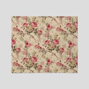 pink rose Throw Blanket