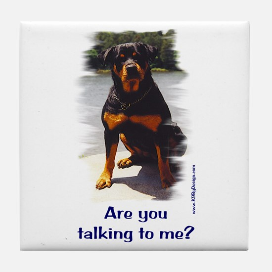Are you talking to me Tile Coaster