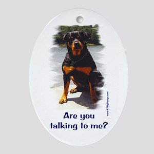 Are you talking to me? Oval Ornament