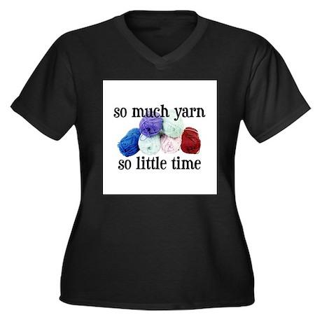 So Much Yarn, So Little Time Women's Plus Size V-N