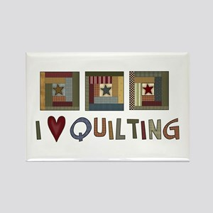 I Love Quilting Rectangle Magnet (10 pack)