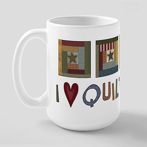 I Love Quilting Large Mug