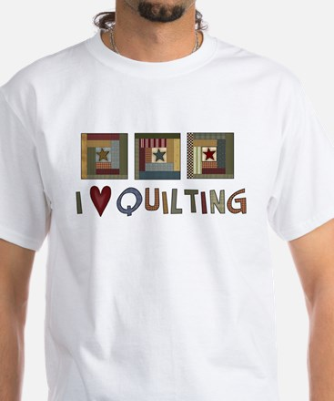 I Love Quilting White T-Shirt
