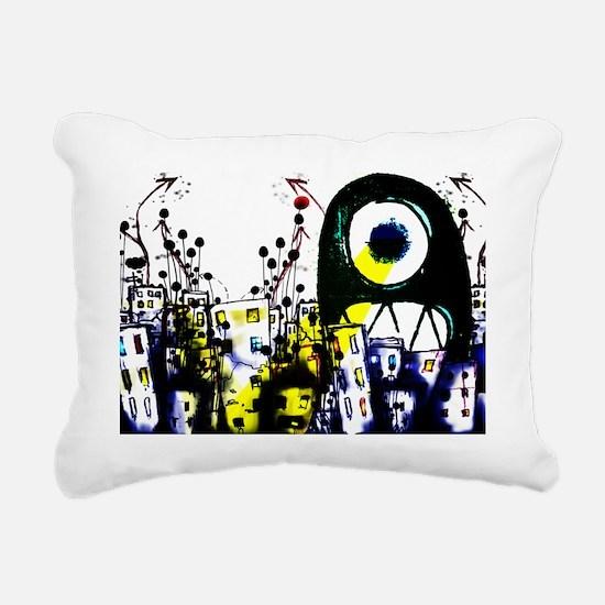CYCLOPS VS CITY Rectangular Canvas Pillow