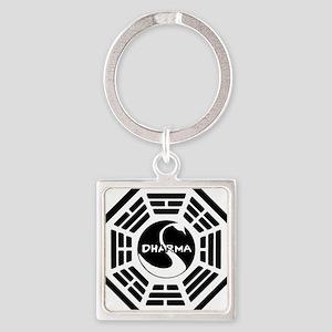 LOST DHARMA MUG Square Keychain