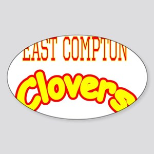 East Compton Clovers Sticker (Oval)