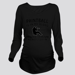 Paintball designs Long Sleeve Maternity T-Shirt