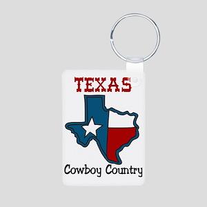 Cowboy Country Aluminum Photo Keychain