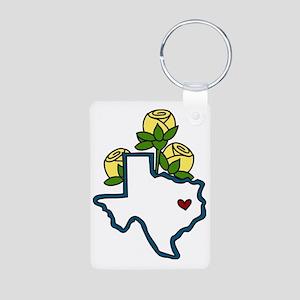 Texas Map Aluminum Photo Keychain