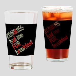 ZombiesSidewaysBLK Drinking Glass