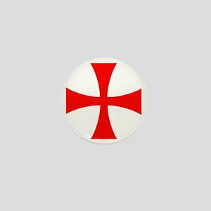 Templar Red Cross Mini Button