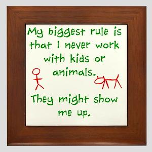 Kids or animals Framed Tile