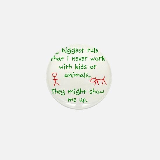 Kids or animals Mini Button