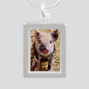 Piglet Silver Portrait Necklace