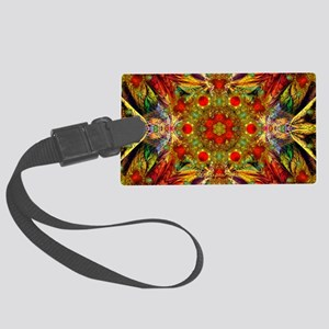 Fractal Julian Kaleidoscope Large Luggage Tag