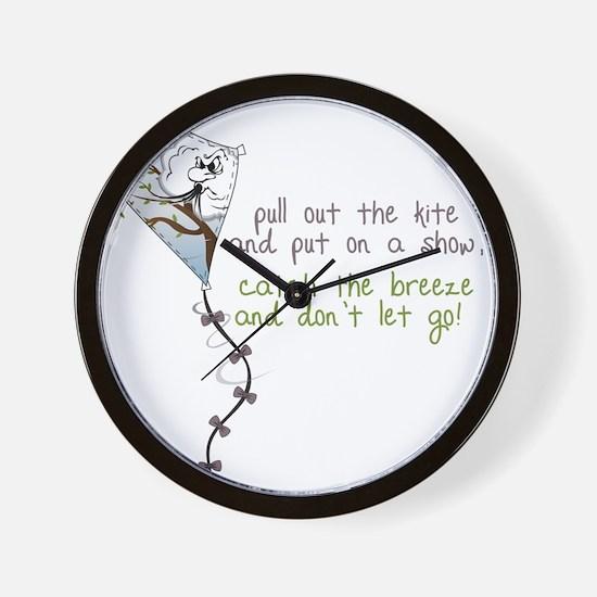 Catch The Breeze Wall Clock