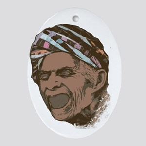Old man Oval Ornament