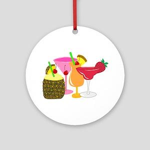 Frozen Drinks Ornament (Round)