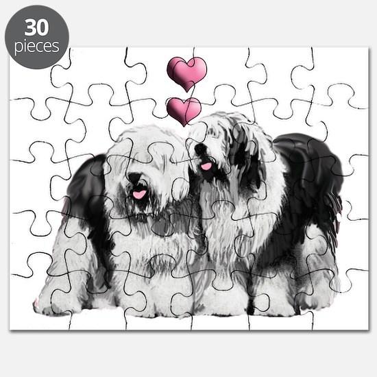 Ole English Sheepdog Pair Puzzle