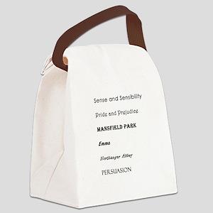 Jane Austen Novels Canvas Lunch Bag
