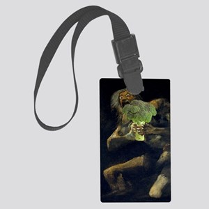 Saturn Devouring His Broccoli Large Luggage Tag