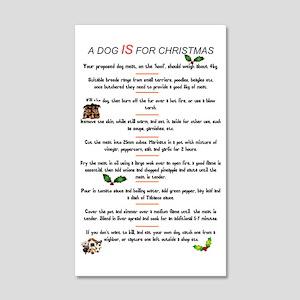 DOG MEAT - CHRISTMAS MENU 20x12 Wall Decal