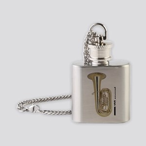 Heavy Metal Tuba Flask Necklace