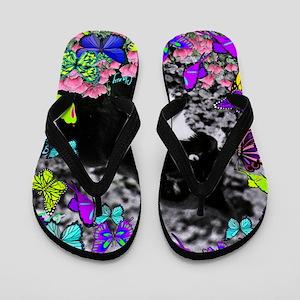 Freckles in Butterflies II Flip Flops
