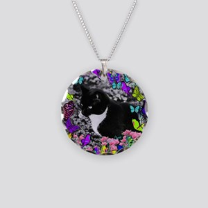 Freckles in Butterflies II Necklace Circle Charm