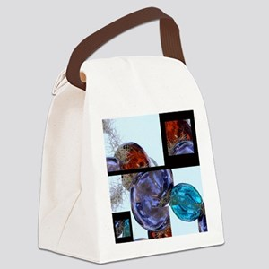 Layers of Glass Baubles Canvas Lunch Bag