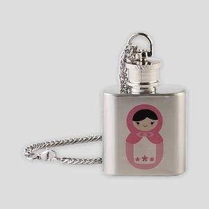 Matryoshka Doll - Bubblegum Pink Flask Necklace