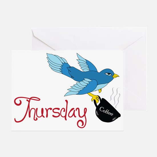 Blue Bird Thursday Greeting Card