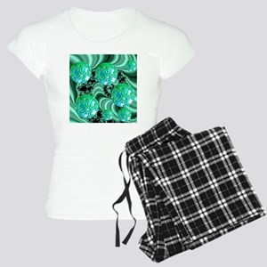 Emerald Satin Dream... Women's Light Pajamas
