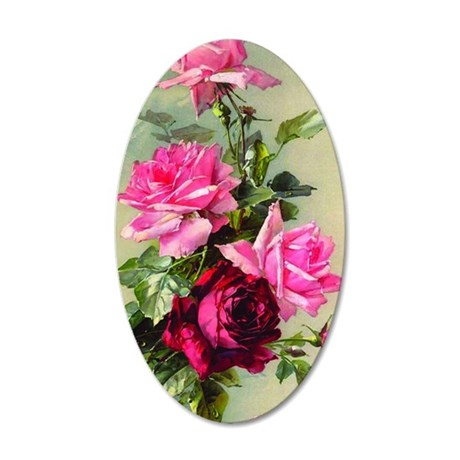 Vintage Victorian Rose Iphon 35x21 Oval Wall Decal
