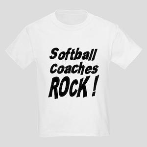 Softball Coaches Rock ! Kids Light T-Shirt