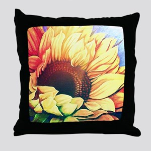 Festive Sunflower Throw Pillow