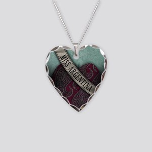 Beetlejuice Miss Argentina Necklace Heart Charm