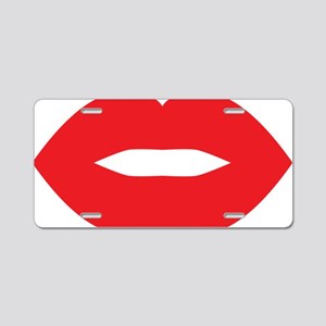 Red Hot Lips Aluminum License Plate