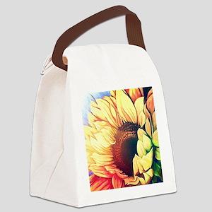Festive Sunflower Canvas Lunch Bag
