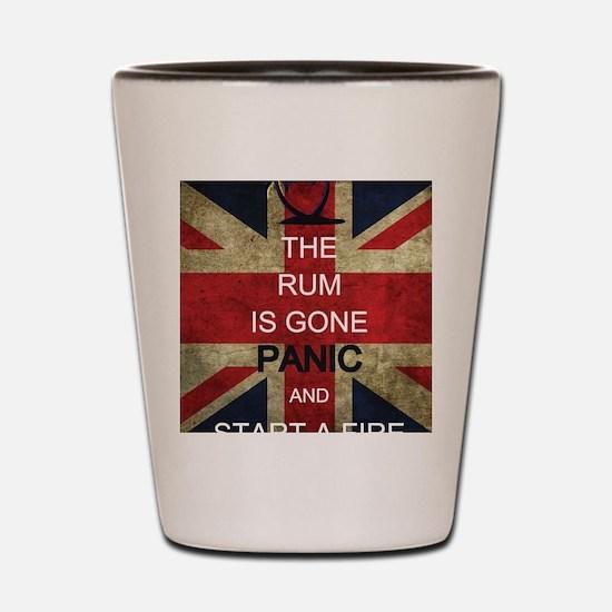 Rum Panic Shot Glass