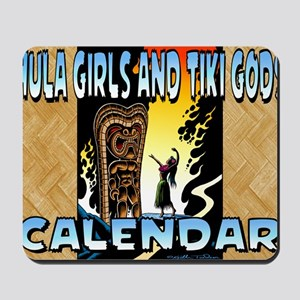 Hula Girls and Tiki Gods Calendar Mousepad