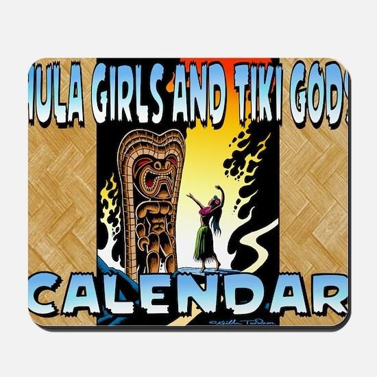 Hula Girls and Tiki Gods Calendar Mousepad